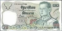 Currency of Thailand - 20 Baht Note