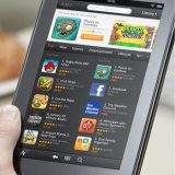 Holding the Kindle Fire