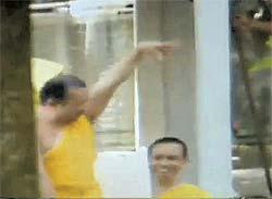 gay monk dancing coyote in thailand